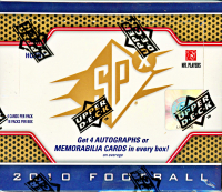 2010 Upper Deck SPX Football Hobby Box of (72) Cards at PristineAuction.com