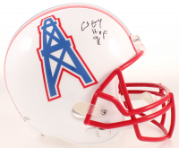 """Earl Campbell Signed Oilers Full-Size Helmet Inscribed """"HOF 91"""" (Beckett COA) at PristineAuction.com"""