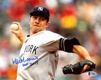 "Mike Mussina Signed Yankees 8x10 Photo Inscribed ""HOF 19"" (Beckett COA) at PristineAuction.com"