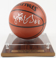 Julius Erving Signed NBA Basketball WIth DIsplay Case (JSA COA) at PristineAuction.com