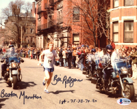 "Bill Rodgers Signed 8x10 Photo Inscribed ""Boston Marathon"" & ""1st -75-78-79-80"" (Beckett COA) at PristineAuction.com"