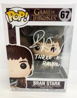"Isaac Hempstead Wright Signed ""Game of Thrones"" Bran Stark #67 Funko Pop! Vinyl Figure Inscribed ""Three Eyed Raven"" (Radtke COA) at PristineAuction.com"