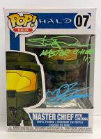 "Steve Downs & Jen Taylor Signed ""Halo"" Master Chief #07 Funko Pop! Vinyl Figure Inscribed ""Master Chief"" & ""Cortana"" (Radtke COA) at PristineAuction.com"