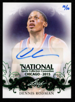 Dennis Rodman 2015 Leaf National Convention Autographs Green #NSCCDR1 /10 at PristineAuction.com