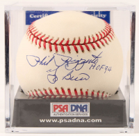 "Yogi Berra & Phil Rizzuto Signed OAL Baseball Inscribed ""HOF 94""with Display Case (PSA COA - Graded 9.5) at PristineAuction.com"