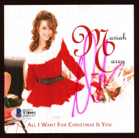 "Mariah Carey Signed ""All I Want For Christmas Is You"" CD Album Sleeve (Beckett COA) at PristineAuction.com"