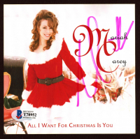 """Mariah Carey Signed """"All I Want For Christmas Is You"""" CD Album Sleeve (Beckett COA) at PristineAuction.com"""
