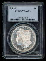 1881-S Morgan Silver Dollar (PCGS MS66PL) at PristineAuction.com