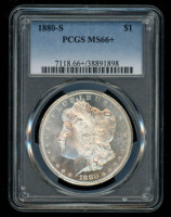 1880-S Morgan Silver Dollar (PCGS MS66+) at PristineAuction.com