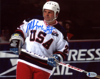 "Mike Eruzione Signed Team USA 8x10 Photo Inscribed ""80 Gold"" (Beckett COA) at PristineAuction.com"