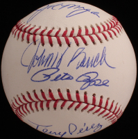Big Red Machine OML Baseball Signed by (4) with Joe Morgan, Johnny Bench, Tony Perez & Pete Rose (JSA COA) at PristineAuction.com