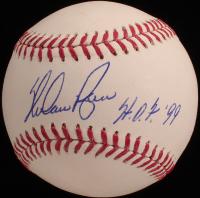 "Nolan Ryan Signed OML Baseball Inscribed ""H.O.F. '99"" (AIV COA & Ryan Hologram) at PristineAuction.com"