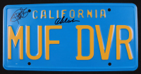 """Cheech Marin & Tommy Chong Signed """"Up in Smoke"""" 6x12 License Plate (AutographCOA Hologram) at PristineAuction.com"""