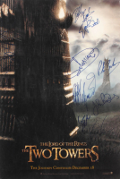 """Lord of the Rings: The Two Towers"" 13.5x20 Poster Cast-Signed by (10) with Elijah Wood, Sean Astin, Billy Boyd, John Rhys-Davies (JSA ALOA) at PristineAuction.com"