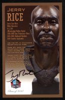 Jerry Rice Signed LE Football Hall of Fame 3.5x5.5 Postcard (Beckett COA) at PristineAuction.com