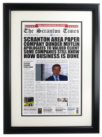 """Scranton Times """"The Office"""" 16x23 Custom Framed Photo at PristineAuction.com"""