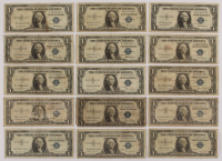 Lot of (15) 1935-57 $1 One-Dollar U.S. Silver Certificates at PristineAuction.com