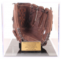 "Nolan Ryan Signed Rawlings Baseball Glove Inscribed ""100.7 M.P.H. Fastball"" with Display Case (PSA COA) at PristineAuction.com"