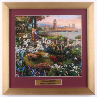 "Thomas Kinkade Walt Disney's ""101 Dalmatians"" 16x16 Custom Framed Print Display at PristineAuction.com"
