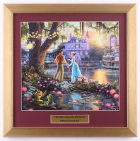 "Thomas Kinkade Walt Disney's ""The Princess & the Frog"" 16x16 Custom Framed Print Display at PristineAuction.com"