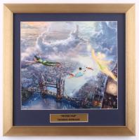 "Thomas Kinkade Walt Disney's ""Peter Pan"" 16x16 Custom Framed Print Display at PristineAuction.com"
