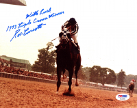 "Ron Turcotte Signed 8x10 Photo Inscribed ""With Luck"" & ""1973 Triple Crown Winner"" (PSA COA) at PristineAuction.com"