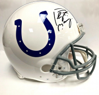 Peyton Manning Signed Colts Full-Size Authentic On-Field Throwback Helmet (Fanatics Hologram) at PristineAuction.com