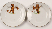 Lot of (2) 1920's English China Soccer Plates at PristineAuction.com