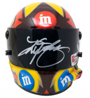 Kyle Busch Signed NASCAR #18 M&M Mini-Helmet (Beckett COA & PA COA) at PristineAuction.com