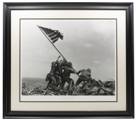 "Historical Photo Archive - ""Raising the American Flag"" Limited Edition 18x22 Custom Framed Fine Art Giclee on Paper (PA LOA) at PristineAuction.com"