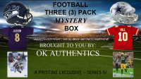 OKAUTHENTICS Three (3) Pack Football Mystery Box Series IV at PristineAuction.com