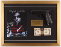 """Henry Hill Signed """"The Goodfellas"""" 17x22 Custom Framed Photo Display Inscribed """"Goodfella"""" with Movie Prop Money & Gun (PSA COA) at PristineAuction.com"""