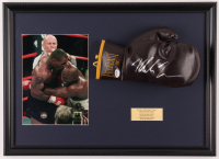 Mike Tyson Signed Everlast 16x22 Custom Framed Vintage Leather Boxing Glove Display (PSA COA) at PristineAuction.com