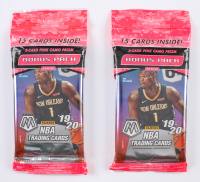 Lot Of (2) 2019-20 Panini Mosaic Basketball Cello Packs of (15) Cards Each at PristineAuction.com