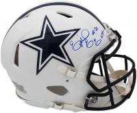 Ezekiel Elliott Signed Cowboys Full-Size Authentic On-Field Matte White Speed Helmet (Radtke COA) at PristineAuction.com