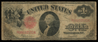 1917 $1 One Dollar Legal Tender Red Seal Large Size Bank Note at PristineAuction.com
