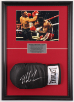 Mike Tyson Signed Everlast 16x22 Custom Framed Boxing Glove Display (PSA COA) at PristineAuction.com