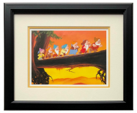 "Walt Disney's ""Snow White & the Seven Dwarfs"" 16x18 Custom Framed ""Heigh-Ho"" Print Display at PristineAuction.com"