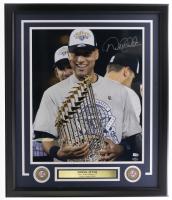 Derek Jeter Signed Yankees 22x27 Custom Framed Photo Display (Steiner Hologram & MLB Hologram) at PristineAuction.com