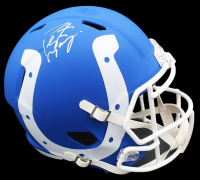 Peyton Manning Signed Colts AMP Full-Size Speed Helmet (Fanatics Hologram) at PristineAuction.com