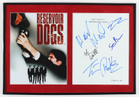 """Reservoir Dogs"" 13.5x19.5 Custom Framed Movie Script Cover Display Cast-Signed by (5) with Quentin Tarantino, Tim Roth, Steve Buscemi, Harvey Keitel & Michael Madsen (AutographCOA LOA) at PristineAuction.com"