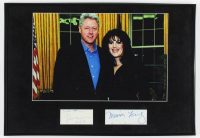 """Bill Clinton & Monica Lewinsky Signed 13.5x19.5 Custom Framed Cut Display Inscribed """"Best Wishes"""" & """"2-14-19"""" (AutographCOA Hologram) at PristineAuction.com"""
