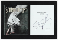 "Steven Spielberg Signed ""Schindler's List"" 13.5x19.5 Custom Framed Movie Script Cover Display (AutographCOA Hologram) at PristineAuction.com"