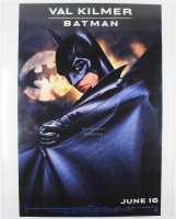 "Val Kilmer Signed ""Batman Forever"" 27x40 Movie Poster Inscribed ""Batman"" (AutographCOA Hologram) at PristineAuction.com"