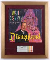 1965 Disneyland 15x18 Custom Framed Vintage Souvenir Guide Display With Vintage Ticket Book at PristineAuction.com