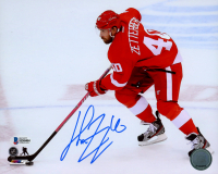 Henrik Zetterberg Signed Red Wings 8x10 Photo (Beckett COA) at PristineAuction.com