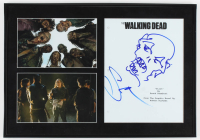 "Greg Nicotero Signed ""The Walking Dead"" 13.5x19.5 Custom Framed Script Cover Display with Hand-Drawn Sketch (AutographCOA LOA) at PristineAuction.com"