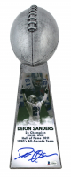 """Deion Sanders Signed 15"""" Football Championship Trophy (Beckett COA) at PristineAuction.com"""