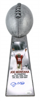 "Joe Montana Signed 15"" Football Championship Trophy (JSA COA) at PristineAuction.com"
