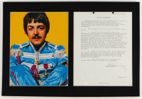 Paul McCartney Signed 13.5x20 Custom Framed Letter Display (JSA ALOA) at PristineAuction.com